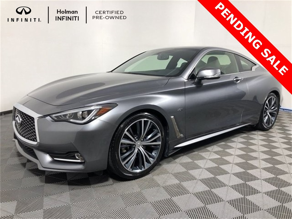 Certified Pre Owned 2018 Infiniti Q60 3 0t Luxe 2d Coupe In Maple